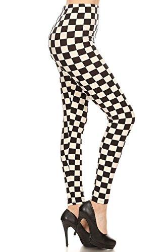 S534-PLUS B&W Checkered Print Fashion -