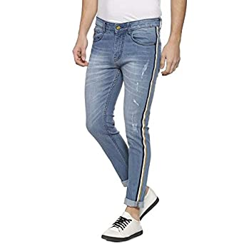 0b18b4c926a Colour: Campus Sutra Men's Slim Fit Jeans (AZ18JN_S2L_M_PLN_BU_AZ_Blue_28W  x ...
