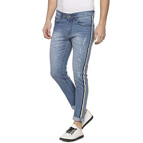 meet 69457 749c6 Campus Sutra Men Side Stripe Stitching Denim Jeans