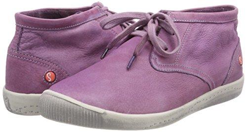 Purple lilac Women''s Trainers Softinos top Hi Indira Washed 0qTfH