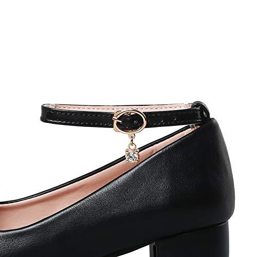 AdeeSu Sandales Noir Femme Compensées SDC05616 gOrzfgwB