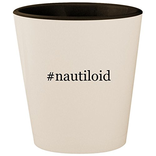 #nautiloid - Hashtag White Outer & Black Inner Ceramic 1.5oz Shot Glass