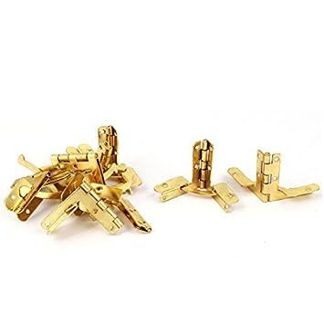 eDealMax Vino Kit Crafts caja de la caja caja de zapatos 32mmx30mm metal Bisagra tonos oro