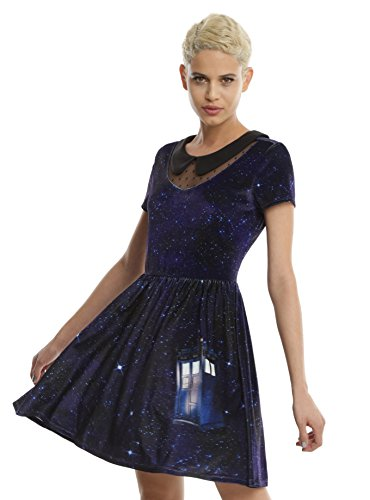 BBC Doctor Who Galaxy Tardis Velvet Dress