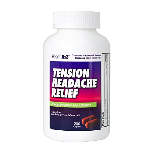 HealthA2Z Tension Headache Relief, Compare to Excedrin Active Ingredient, 200 Caplets