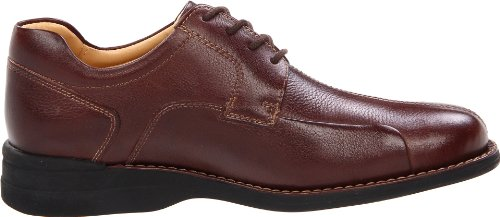 Johnston & Murphy Mens Shuler Bicicletta Punta Oxford Marrone Scuro