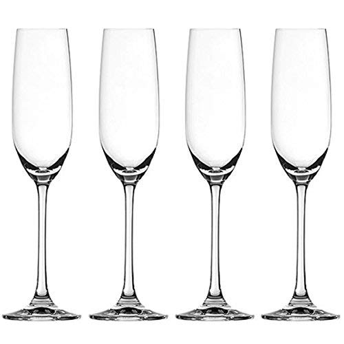 Clear Crystal, Set of 4 Spiegelau Salute Sparkling Wine Champagne Flute
