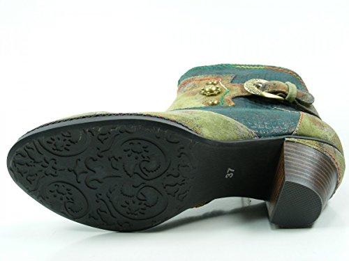 Laura Vita Agathe 43- Scarpe Da Donna Tendenze, Blu, Pelle / Tessuto, Altezza Tacco: 40 Mm Verde