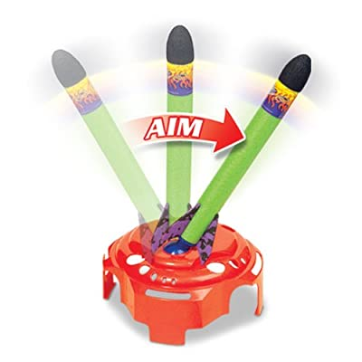 Geospace Jump Rocket Deluxe Set with Adjustable Launcher, Target & 6 Rockets: Toys & Games