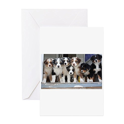 CafePress 7 Hearts Of Love Greeting Card (20-pack), Note Card with Blank Inside, Birthday Card Glossy
