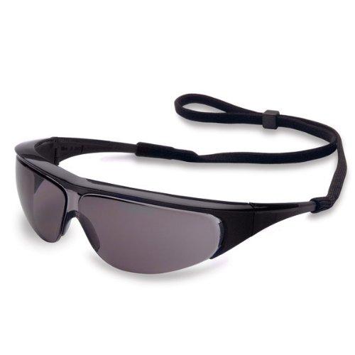 Uvex 11150356 Millennia Safety Eyewear, Black Frame, Gray UV Extreme Anti-Fog Lens ()