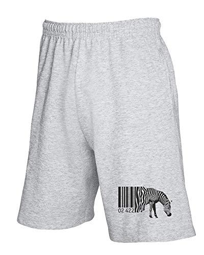 Grigio Tuta Zebra African Wes0534 Bar T Code Pantaloncini shirtshock SqExw1xtF