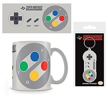 Set: Nintendo, SNES Controller Taza Foto (9x8 cm) Y 1 ...