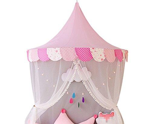 パラダイスアウター時代遅れZYH 赤ちゃんの読書コーナー、子供のテントゲームハウスの寝具遊び家のおもちゃの部屋の布アートハーフムーンテントのベッドサイドの装飾テント120-150CM 広いスペース (色 : A, サイズ さいず : 120 * 65 * 60CM)