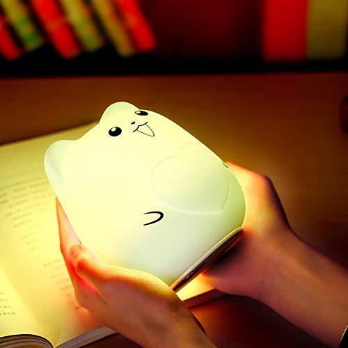 Kiminana USB charging colorful cute pet silicone lamp Lovely Cute Smile Face Night Light Children Bedroom Decor Mini LED Lamp Bulb(US Stock)