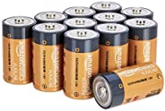 AmazonBasics C Cell 1.5 Volt Everyday Alkaline Batteries - Pack of 12 (Package may vary)