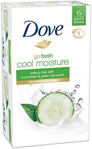 Dove Go Fresh Beauty Bar Soap, Cool Moisture, 6 Count