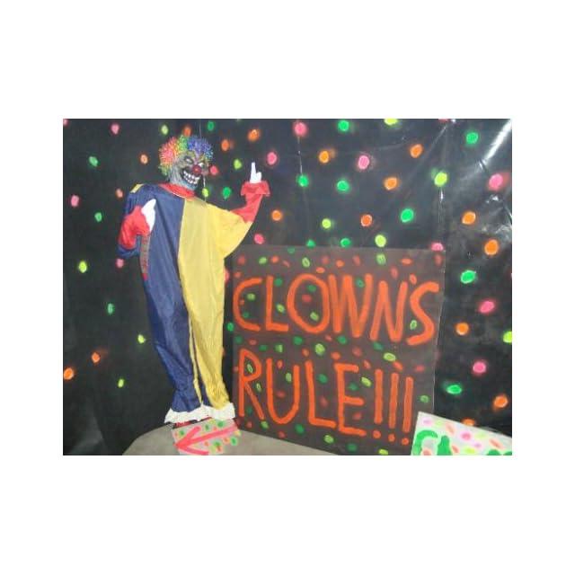 6ft Animated Evil Clown Statue Halloween Prop   Seasonal Decor