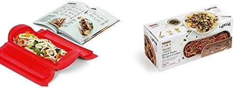 Lékué - Kit Estuche de vapor 1,2 personas + libro de recetas, 650 ml, Silicona + Recipiente Quick Pasta, 1500 ml, Polipropileno: Amazon.es: Hogar