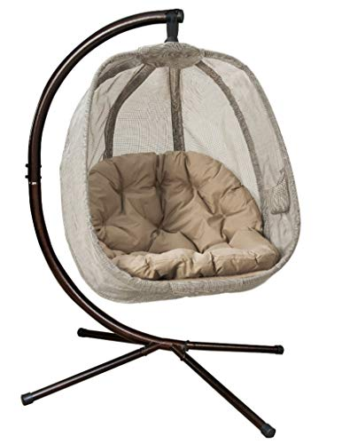 Flower House FHEC100-BRK Egg Chair, Bark (Outdoor Papasan Hanging Chair)