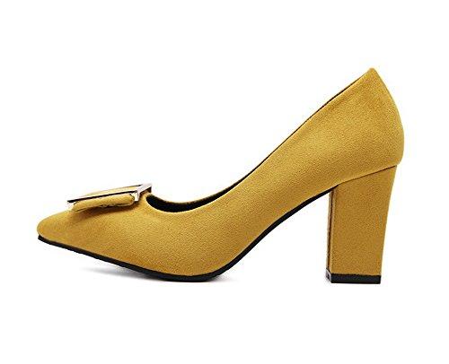 1TO9Mmsg00265 - Sandali con Zeppa donna, giallo (Yellow), 35