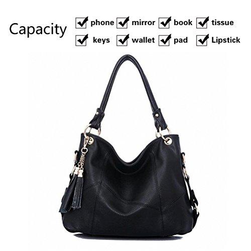 GLR 6 Pockets Handbags Organizer Non-Woven Fabric Clear Purse Handbag Storage Bag Pouches Clear Purse Hanging Organizer Closet