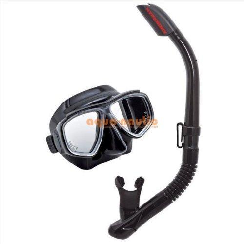 TUSA Sport Adult Splendive Mask and Snorkel Combo, Black/Black