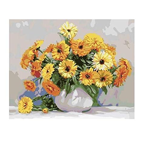 Malen nach Zahlen für Erwachsene DIY Gemälde durch Zahlen die Blume 40x50cm