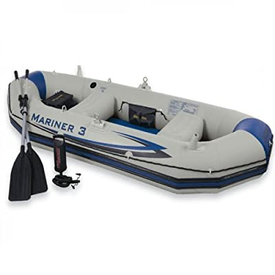 68378EP Intex Recreation Mariner Inflatable Grey 3 Boat Set