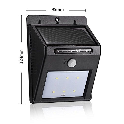 Solar Light, LED Outdoor Solar Powerd,Wireless Waterproof Security Motion Sensor Light ,Modes Motion Activated Auto On/Off by Snow pear