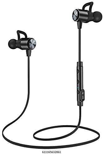 ATGOIN Bluetooth Headphones, Bluetooth 4.1 Lightweight Wireless Stereo Earbuds, NANO Coating Sweatproof Earphones, Noise Cancelling Headsets for Gym Sports with Built-in Mic Image