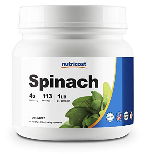 Nutricost Pure Spinach Powder 1LB
