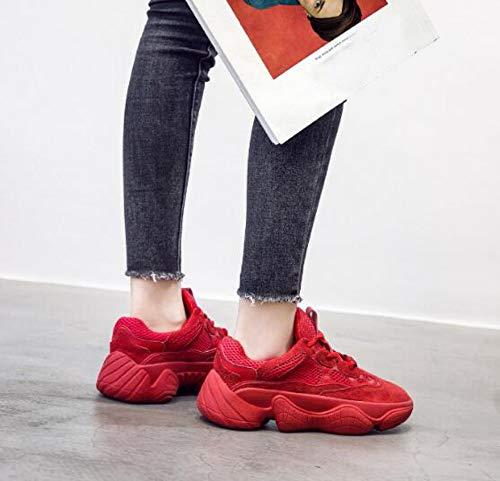 nsxiezi Rojo Xl De Hombres Mujer Casuales Cómodos Zapatillas Transpirables dHqHnp8r