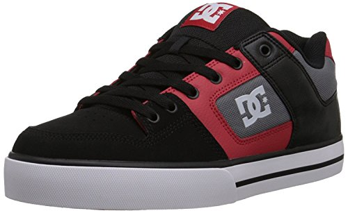 重さ孤児日記DC Men's Pure Skate Shoe Black/Athletic Red 6.5 M US [並行輸入品]