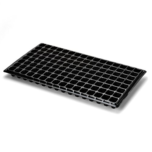 128 Plants (128 Cell Seed Starter Tray - Extra Strength, 5 Pack, Seedling Trays for Starting Plantings Propagation, Germination 1020 Plug Station by Bootstrap Farmer)