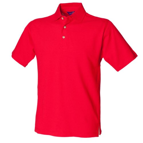 Henbury H100Classic Pique Polo Shirt Classic rot L