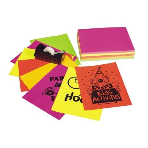 Pacon Neon Bond Paper - Letter - 8.50quot; x 11quot; - 24 lb - 250/Pack - (Pacon Neon Bond Paper)