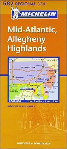 Mapa Regional Mid Atlantic, Allegheny Highlands Carte regionali: Amazon.es: Michelin: Libros en idiomas extranjeros