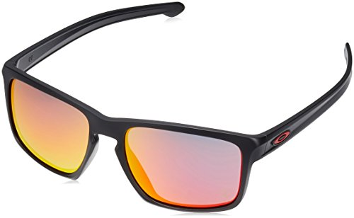 Oakley Asia Fit Sliver Matte Black / Ruby Iridium Lens - Oakley Oversized Sunglasses