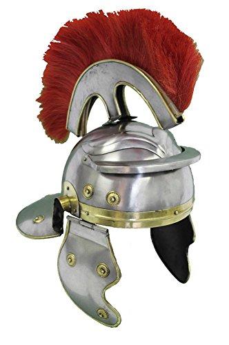 India Overseas Trading Roman Centurion Officers Helmet wi...