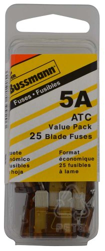 Bussmann (VP/ATC-5-RP) Tan 5 Amp 32V Fast Acting ATC Blade Fuse, (Pack of 25)