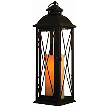 Smart Design Siena Metal Lantern with LED Candle