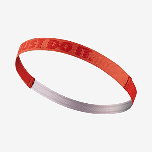Nike Girl's JDI Ribbon Headband,Osfm(Light Crimson/University Red) Nike Nylon Headband