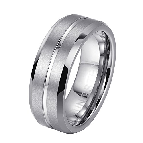 Wide Tungsten Ring Wedding Band - 6