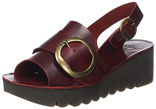 Fly red Sandales Ouvert Femme Rouge Bout London Yidi190fly rq0xUHPr