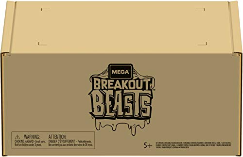 Mega Construx Breakout Beasts Bundle, Mystery Eggs with Slime for Kids [Amazon Exclusive] (GTH07)