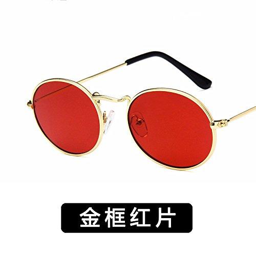 Hembra zhenghao Moda Y Macho De De c 18 3 Gafas C Metal Sol Xue Oval 8gHnp4nW