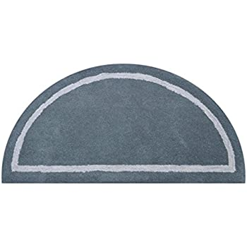 DeluxeComfort Henley Wool Round And Half Circle Hand Tufted Area Rugs, Grey