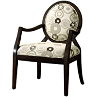 Furniture of America Cresten Modern Upholstered Armchair, Espresso