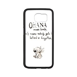 Samsung Galaxy S6 Cell Phone Case White Disneys Lilo and Stitch Afmjq